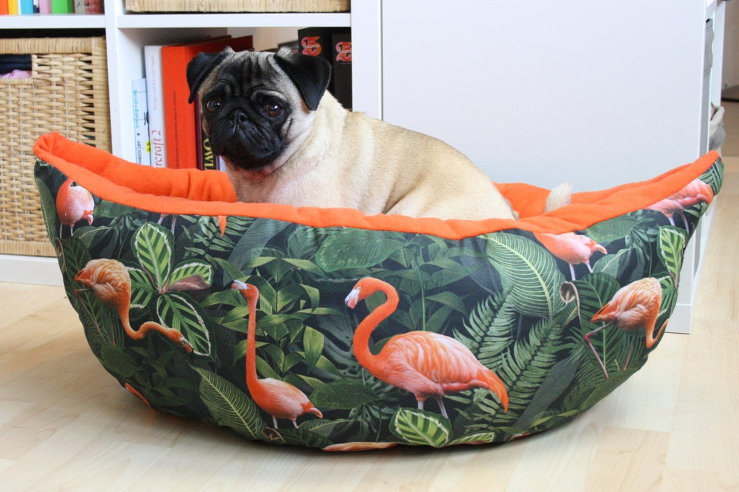 Flamingo Fabric - Boat Bed