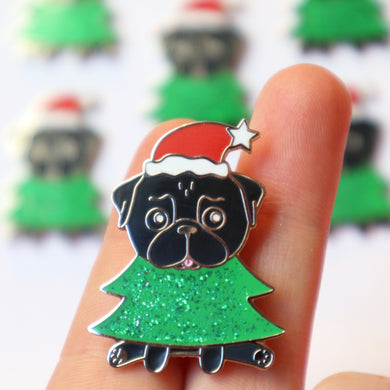 SALE - Christmas Pin Black