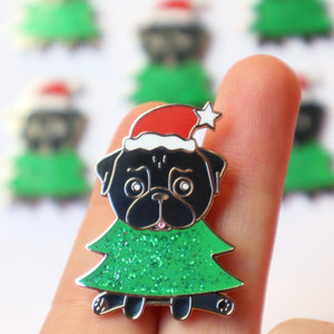 Christmas Pin Black