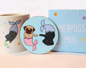 SALE - Merpugs Coaster