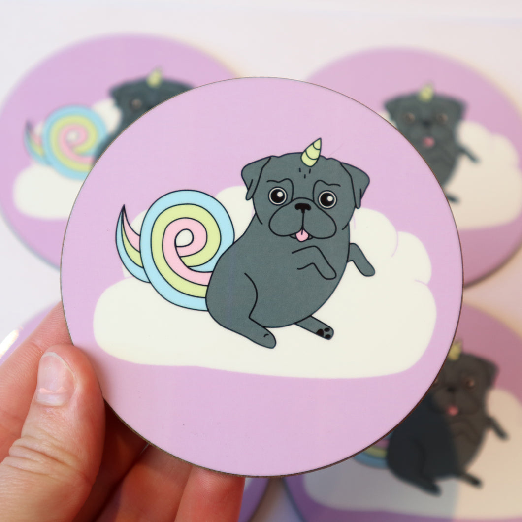Black Unipug Coaster