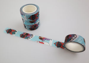 SALE - Washi Tape Pugs, Winter