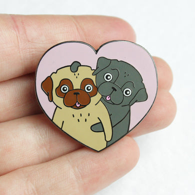 SALE - Love Pugs Pin