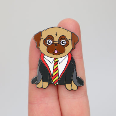SALE - Wizard Pug Pin