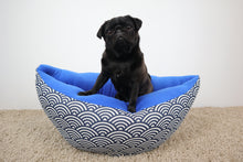 Blue waves pattern - Boat Bed