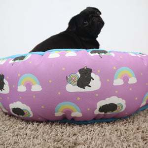 Unipug Black, Special Edition Fabric - Round Bed