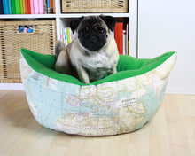 World Map Fabric - Boat Bed