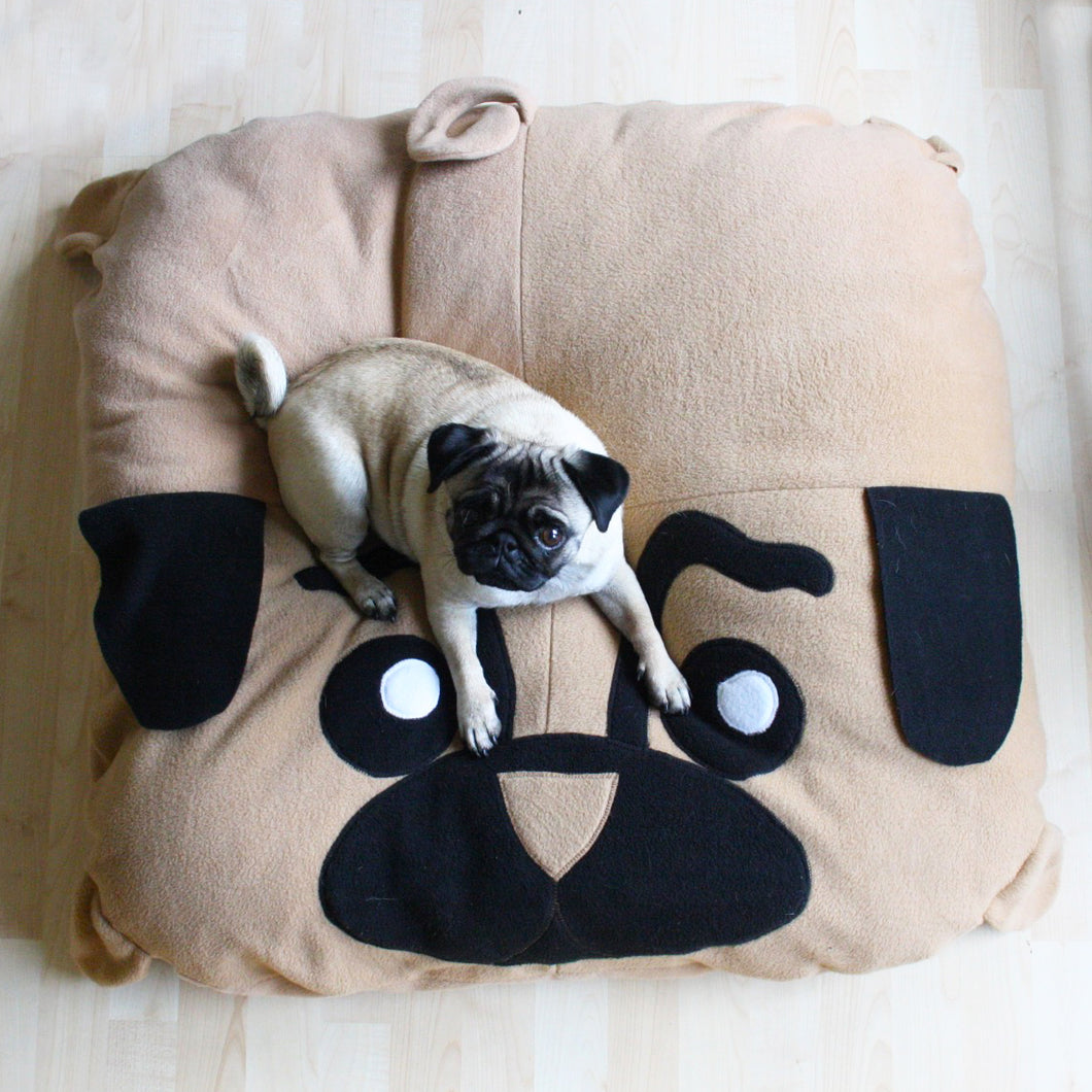 Large Pug Pillow