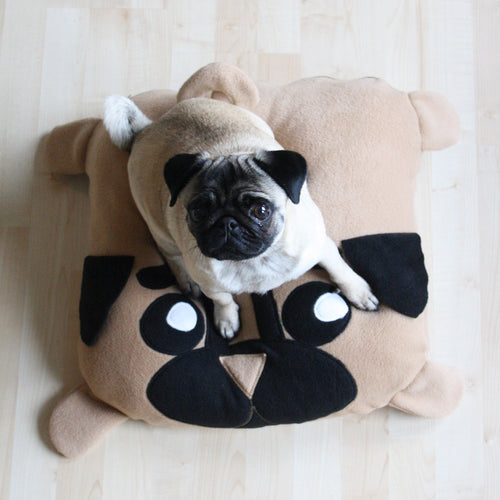 Extra Small Pug Pillow