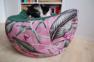 Pink leafs pattern - Boat Bed