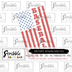baseball america SVG red blue july summer sports sport Cricut Silhouette distressed grunge antique old baseball SVG cute popular free commercial use stars stripes patriotic