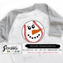 snowman baseball svg vinyl cut file silhouette cricut sports christmas winter coach softball coach team player fan snow cute popular HTV SVG DXF PDF PNG JPG Mirrored PDF printable iron on transfer shirt DIY craft free commercial use fast easy safe secure last minute sports gift snowman baseball