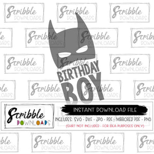digital download svg birthday boy super hero svg dxf pdf DIY vinyl cut file iron on transfer printable cute popular cute fast secure sublimation art work superhero comic boy party shirt DIY Cricut Silhouette free commercial use cute popular boy boys kids SVG bday party shirt batman super hero comic superhero heroes little boys