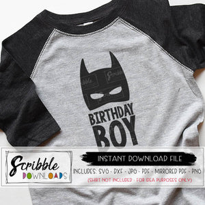 BATMAN SUPERHERO BIRTHDAY BOY SVG VECTOR silhouette cricut design space graphic iron on printable digital download SVG DXF Mirrored PDF boys birthday shirt iron on superhero popular cute fast easy free commercial use
