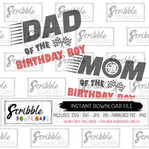 cars birthday mom dad matching shirts SVG vinyl cut file silhouette cricut HTV clipart daddy mama racing flags tire car cars racing cute popular best seller fast easy to use safe secure free commercial use cars car theme bundle DIY shirt svg dxf pdf png jpg Mirrored pdf printable digital download iron on
