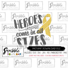 cancer hero silhouette cricut vinyl cut file vector SVG shirt iron on heat transfer vinyl support fundraiser sickness gift digital download instant printable cute boy girl kids toddler youth fighter cancer go gold hero disease fight