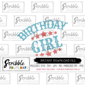 circus birthday girl SVG Vinyl cut file cricut silhouette SVG DXF PDF PNG JPG Mirrored PDF stars ringmaster lions elephants tigers carnival circus cute popular bday girl theme party shirt craft iron on printable SVG DXF PDF PNG JPG