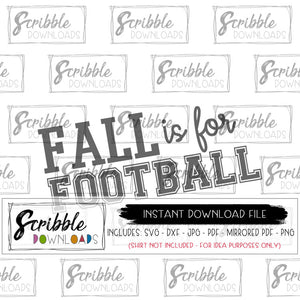 Fall is for Football SVG