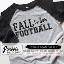 fall is for football svg dxf cut file silhouette cricut vinyl cut machines free digital download instant vector iron on shirt transfer mirrored PDF cute shirt to make yourself