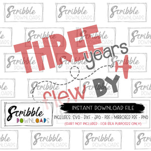 three years flew by svg three third 3 3rd birthday bday svg dxf pdf png jpg cut file silhouette cricut easy fast secure digital download free commercial use popular kids svg pilot airplane plane airplanes planes future pilot sky cute vinyl DIY shirt instant digital download file scribble downloads
