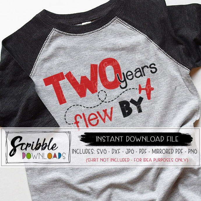 two airplane svg 2nd birthday instant digital download svg dxf pdf png jpg second pilot bday party iron on transfer printable DIY shirt TWO years flew by cute popular hand drawn kids boy girl plane airplanes party trendy silhouette cricut cut file free commercial use 2 year old svg homemade shirt clipart graphic
