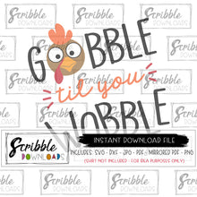 Kids Thanksgiving SVG Gobble til you Wobble vinyl cut file cricut or silhouette program files vector DXF PDF iron on transfer image clipart thanksgiving for kids cute popular trendy easy free commercial use SVG DXF PDF PNG JPG mirrored PDF printable iron on transfer craft DIY shirt last minute matching pinterest popular best seller