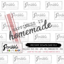 homemade happiness SVG cut file Cricut Silhouette Vector clipart for sign making digital download print and frame instant gift easy farm house farmhouse decor custom unique trendy popular fast