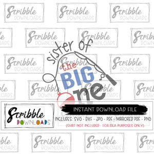 1 the big one SVG sister big sis matching clipart SVG DXF PDF PNG JPG 1 year old party swim fish swimming summer fishing bundle Cricut silhouette SVG Vinyl Cut File printable digital download iron on transfer DIY shirt graphic