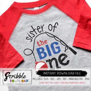 sister of the big one SVG 1 year old SVG DXF PDF PNG JPG sis sibling sister 1 first one first birthday party fish swim bday matching coordinating Vinyl Cut File bundle SVG DXF PDF PNG JPG Cricut Silhouette Printable iron on transfer shirt clipart DIY craft free commercial use sublimation artwork graphic design cute popular easy fast