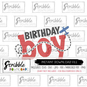 airplane birthday boy cute SVG DXF PDF PNG JPG MIrrored PDF digital download instant free commercial use bday boy party diy iron on shirt craft 1 2 3 4 5 6 7 8 9 10 year old boy kids airplane trail plane pilot cute popular silhouette cricut vinyl cut file popular safe secure fast digital download files bundle family matching