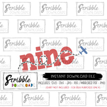 9 airplane theme SVG vinyl cut file cricut silhouette heat transfer vinyl clipart fast easy digital download instant email safe secure free 9 9th nine ninth airplane plane pilot party theme matching number shirts boys girls vinyl cut file nine