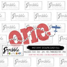 airplane one SVG 1 1st first bday birthday bash party plane pilot theme cake smash digital download instant printable iron on transfer shirt craft DIY Vinyl cut file Silhouette Cricut red blue contrail boy girl kids cute popular one 1 year old birthday theme