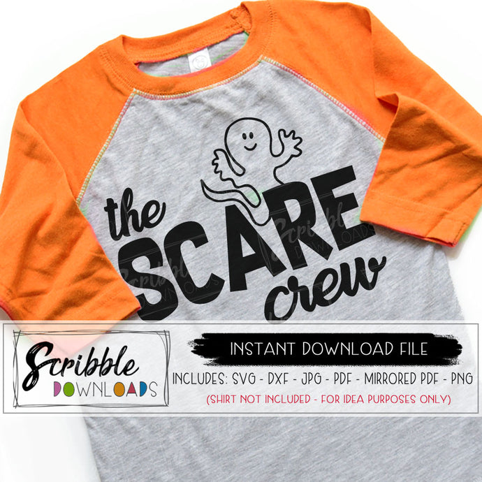 Halloween Boo crew svg SCARE trick or treat svg popular digital GHOST svg party cut file iron on shirt cricut silhouette boy girl matching popular cute halloween iron on shirt transfer