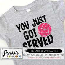 volleyball funny svg dxf graphic cut file ace you just got served team shirt iron on transfer print at home DIY silhouette cricut cut file cameo design space vinyl easy to use