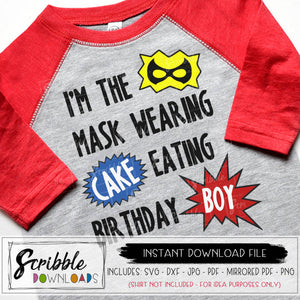 SUPERHERO THEME BIRTHDAY BOY SVG DXF CUT FILE silhouette cricut hero theme party shirt iron on transfer graphic digital download clipart easy printable DIY shirt for party boy girl kids cute