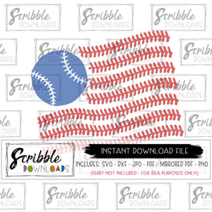 American flag baseball SVG Vinyl Cut File SVG DXF PDF PNG JPG clipart vector graphic sublimation PDF Cricut Silhouette cutting file baseball softball sports americana SVG popular boy girl mom coach fan
