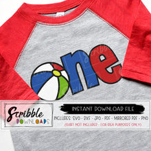 One svg 1 one 1st first birthday beach swim party summer svg dxf cut file birthday shirt iron on svg bday boy girl iron on cricut silhouette beach party swim bday beach ball graphic