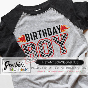 Car Birthday boy svg cars theme bday iron on racecar birthday svg party boy car checkered flag svg kids cut shirt cricut silhouette cut file graphic clipart iron on transfer shirt DIY craft popular free limited commercial use