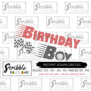 cars birthday boy SVG vinyl cut file car racing flags cute SVG Cricut silhouette vinyl craft clipart vector graphic digital download instant email popular boys bday shirt iron on SVG DXF PDF PNG JPG popular best seller printable iron on transfer shirt craft gift fast easy secure safe free commercial use