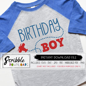 BIRTHDAY BOY AIRPLANE THEME SVG GRAPHIC VECTOR Cricut Silhouette cut file clipart PDF iron on transfer graphic DIY printable digital download plane airplane sky paper plane bday boy shirt cute popular sublimation