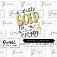 Digital download Cancer SVG cut file cricut vinyl cancer sister support awareness shirt vector silhouette cuts a lot sis love cancer hope fundraiser gold ribbon clipart free limited commercial use easy fast secure safe popular gift