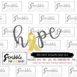 cancer warrior hope believe love cancer ribbon awareness graphic printable digital download DIY iron on transfer clipart safe secure free limited commercial use hope ribbon gold