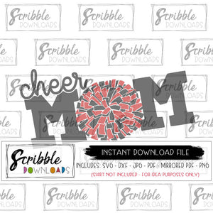 cheer mom graphic vector clipart scrapbook digital printable instant download print iron on transfer graphic cricut silhouette