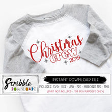 Christmas Crew SVG digital download vinyl cut file silhouette cricut matching family xmas christmas shirts DIY printable iron on transfer Christmas 2019 grandkids cousins nana group photo pajamas christmas morning outfits SVG DXF PDF PNG JPG Mirrored PDF popular cute best seller stars red silver boy girl kids toddler teen unisex free commercial use