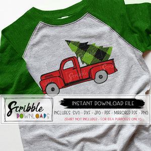 Christmas truck svg vector dxf silhouette cricut cut file for vinyl heat transfer to make shirts or iron on transfers compatible silhouette cricut clipart for christmas season
