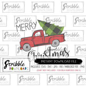 merry christmas old fashioned farmhouse truck svg dxf cut file print at home vinyl cut file iron on transfer shirt popular cute farmhouse style frame printable easy cheap