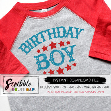 Circus Birthday Boy SVG stars bday party vinyl cut file SVG DXF PDF JPG PNG printable iron on transfer shirt circut silhouette craft vector DIY shirt bday party boy kids stars ringmaster boys zoo carnival circus cute popular easy fast safe secure