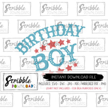 Bday boy carnival circus theme SVG Vinyl cut file cricut silhouette vector clipart printable iron on transfer shirt DIY craft project instant digital download SVG DXF PDF PNG JPG Mirrored PDF cute easy fast secure safe boy boys kids bday birthday SVG