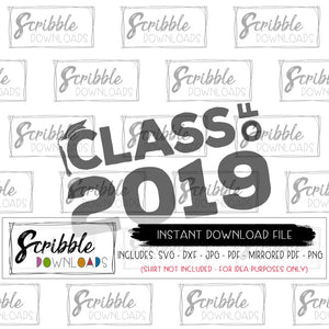graduation senior 2019 SVG Cricut Silhouette digital download Vinyl cut file printable iron on transfer shirt DIY craft boy girl trendy cute popular matching shirts logo class of 2019 cap and gown tassel SVG DXF craft project free commercial use high school senior valedictorian college school