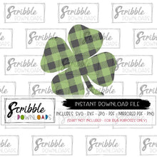 shamrock svg green black buffalo plaid svg dxf pdf png jpg cut file cricut silhouette cameo design space easy peel vinyl HTV DIY shirt iron on transfer printable craft project SVG popular cute boy girl kids fast easy secure free commercial use